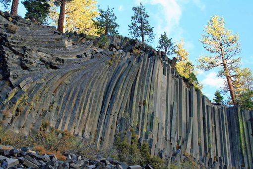 Columnar basalt at Devils Postpile National Monument
