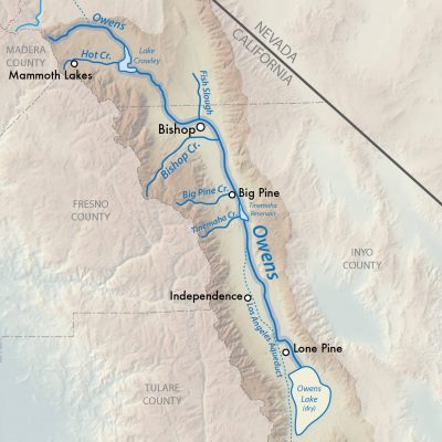 Map of Owens River basin