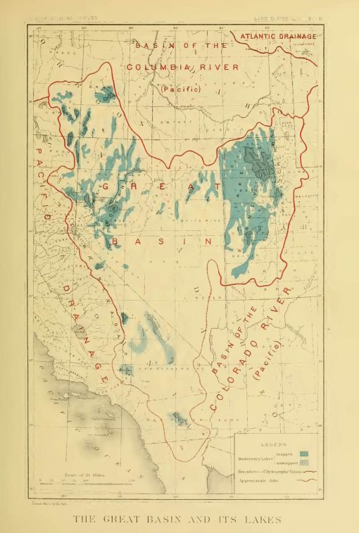 Historical map of the Great Basin